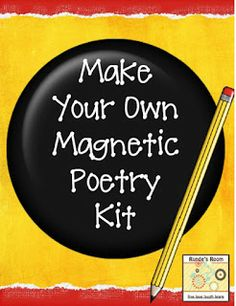 photo of DIY Magnetic Poetry Kits free pdf download @ Runde's Room