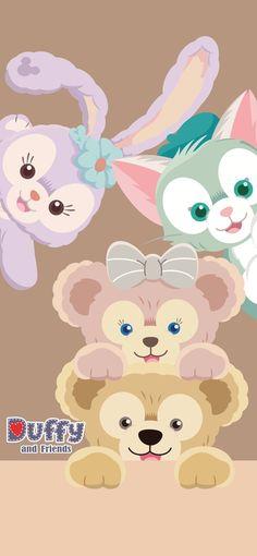 Disney Phone Wallpaper, Friends Wallpaper, Iphone Wallpaper, Cute Patterns Wallpaper, Aesthetic Pastel Wallpaper, Duffy The Disney Bear, Cute Cartoon Wallpapers, Cute Baby Animals, Disney Parks