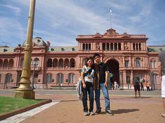 En la Casa Rosada, en Plaza de Mayo. Buenos Aires.