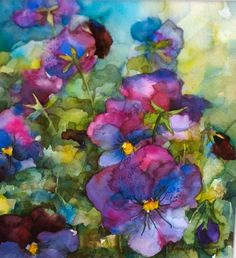 This picture represent a lot of COLOR. The flowers show many different colors like pink, purple, blue, etc. This attracts the viewer's attention by having these bright colors inside the flower. The different greens and yellows in the background help unify this piece of artwork together