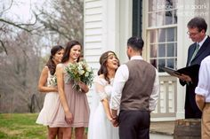 laughing bride, happy bride, ceremony candids, outdoor wedding ceremony, wedding photographer, beautiful wedding, tennessee wedding ceremony :: James + Elena's Wedding at The Sam Davis Home in Smyrna, TN :: with Christine @Historic Sam Davis Home