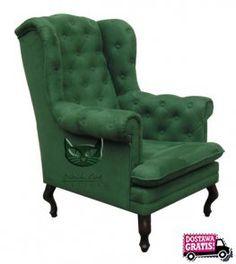 Znalezione obrazy dla zapytania zielony fotel black cat design