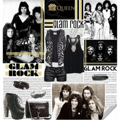 """""""Queen - Glam Rock style!"""" by cellophaneflower on Polyvore"""
