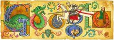 Google Doodle celebrating St George's Day on 23 April 2013