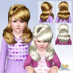 Retro hairstyle ID 652 by Peggy Zone for Sims 3 - Sims Hairs - http://simshairs.com/retro-hairstyle-id-652-by-peggy-zone/