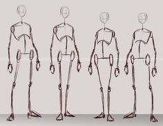 Character Concept Bases [Male/Female] by chrissyanaa on DeviantArt Body Reference Drawing, Drawing Body Poses, Anime Poses Reference, Human Figure Drawing, Figure Sketching, Drawing Tips, Anatomy Reference, Anatomy Sketches, Anatomy Art