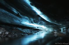 oh wow - image from an ice cave under a glacier