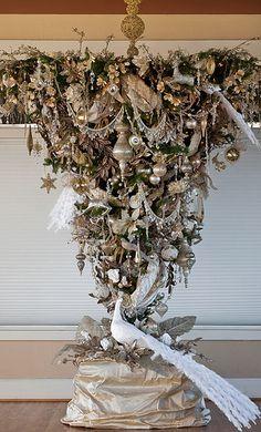 50th Wedding Anniversary Christmas Tree ~ Upside Down by stevetoearth, via Flickr