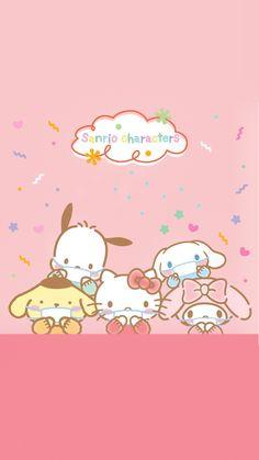 Wallpaper Doodle, My Melody Wallpaper, Sanrio Wallpaper, Hello Kitty Wallpaper, Painting Wallpaper, Melody Hello Kitty, Sanrio Hello Kitty, Kawaii Chibi, Kawaii Art