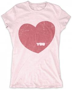 Evoke Apparel - I Heart You Giant Heart Womens Graphic T-shirt, $27.00 (http://www.evokeapparelcompany.com/i-heart-you-giant-heart-womens-graphic-t-shirt/)  The graphic tee that has a heart as big as yours. This vintage style I Love You giant heart graphic tee makes a fun statement and looks great with a pair of jeans.