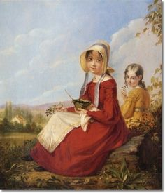 Image detail for -... mount the blackberry girls 1840 by william sidney mount painting