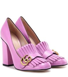 mytheresa.com - Leather loafer pumps - Luxury Fashion for Women / Designer clothing, shoes, bags