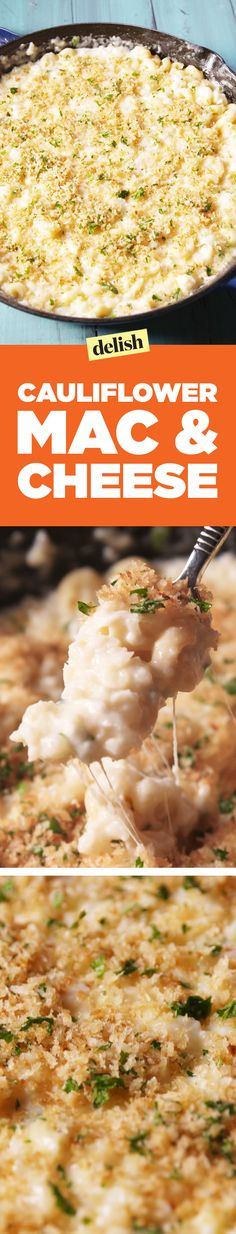 Cauliflower Mac & Cheese proves your homemade mac has been missing something. Get the recipe on Delish.com.