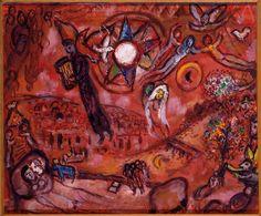 Acheter Tableau 'Song of Songs V (9)' de Marc Chagall - Achat d'une reproduction sur toile peinte à la main , Reproduction peinture, copie de tableau, reproduction d'oeuvres d'art sur toile