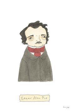 Edgar Allan Poe  Original Literary Portrait by TerrificFriends, $14.00