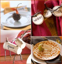 DIY thanksgiving place cards- love the deer for an ornament maybe?