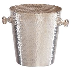 Aluminum ice bucket with a hammered design.  Product: Ice bucketConstruction Material: MetalColor:
