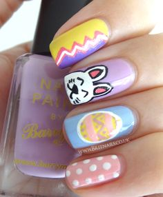 Easter nails~so cute for my little girl!