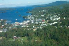 Greenville and Moosehead Lake in Maine USA.