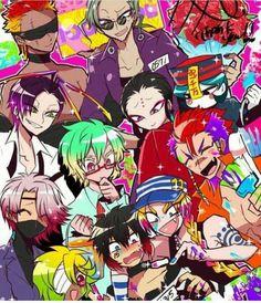 Masashi, Qi, Honey, Liang, Trois, Rock, Tsukumo, Uno, Jyugo, and Nico | Nanbaka