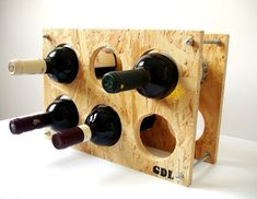 Osb handmade wine rack