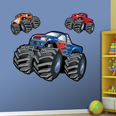 Fathead U2013 Peel U0026 Stick Wall Graphic | Monster Trucks