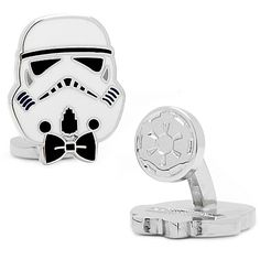 Star Wars™ Enameled Storm Trooper Style Cufflinks. $59.99 Dress up in your finest, and make sure your favorite Star Wars character is by your side with the Store Trooper Style Cufflinks. In enamel, these officially licensed cufflinks feature a storm trooper in a black bow tie to bring a fun to your attire.