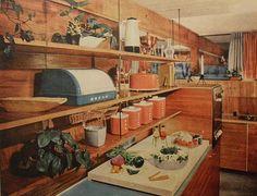 1950s kitchen. #vintage