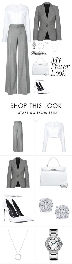 """Women Power"" by chantal-achkar ❤ liked on Polyvore featuring Alexander McQueen, Georgia Alice, Hermès, Balenciaga, Effy Jewelry and Roberto Coin"
