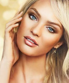 Make up - Candice Swanepoel Natural Wedding Makeup, Wedding Hair And Makeup, Bridal Makeup, Natural Makeup, Victoria Secret Makeup, Bronze Makeup, Glowy Makeup, Hair Makeup, Makeup Ideas