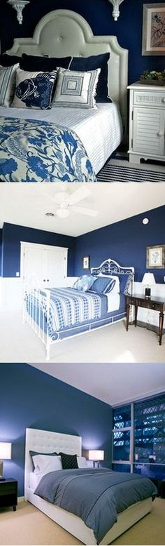 Bedrooms in Monaco Blue is Pantone's Color of the Month for March 2013