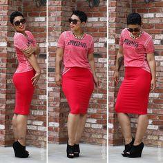 #DIY Pencil Skirt + Mentally Attractive Tee! - Mimi G Style
