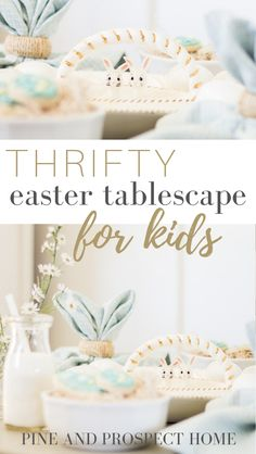 Creating a fun and beautiful Easter Tablescape for kids doesn't have to cost a lot of money!