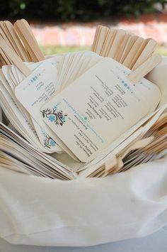 Outdoor Wedding Programs.