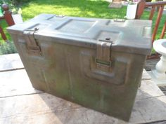 Large Metal Ammo Ammunition Box World War 2 dated 1942 in Original Condition - House / Office Industrial Storage #1 by VintageFoggy on Etsy