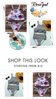 """Chic island getaway with high neck bikini sets"" by fatimka-becirovic ❤ liked on Polyvore featuring GALA"