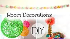 DIY Spring/Summer Room Decorations - YouTube