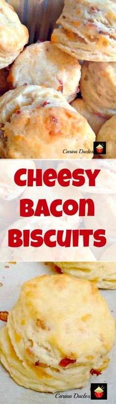 Cheesy Bacon Biscuits. These are a lovely light and fluffy biscuit with amazing flavors! Great served warm with your favorite chili, stew or simply on their own!