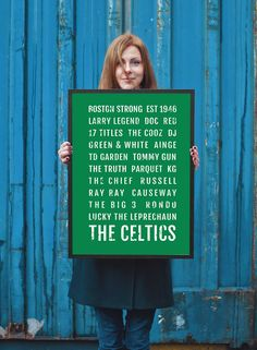 Boston Celtics - Subway Poster
