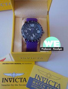 """Invicta Purple Ref.16642 Más y más de sus pedidos. Gracias a todos por confiar en tu tienda preferida @weperfumeria """"Solo Originales""""  WhatsApp 30461399447 ventas@weperfumeria.com"""