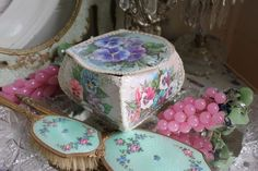 My Mum used to make these boxes and I have the templates to make them too. Crafty Craft, Crafting, Card Boxes, Dressing Tables, Great Memories, Painting Tips, Vintage Cards, Little Things, Pretty Little