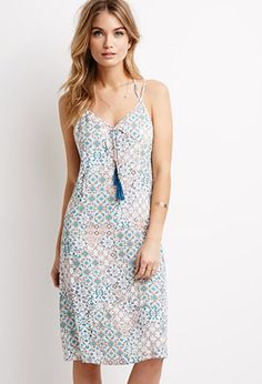 Tasseled Abstract Print Cami Dress | Forever 21 - 2000133250