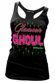 Women's Glamour Ghoul Tank Top - Black