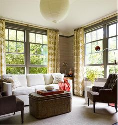 Transitional (Eclectic) Living & Family Room by Gideon Mendelson