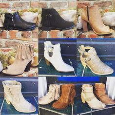 So affordable you can treat yourself!! $36.95-$39.95  #madisonsbluebrick #downtownhotsprings #bootie #shoeenvy #winterfashion