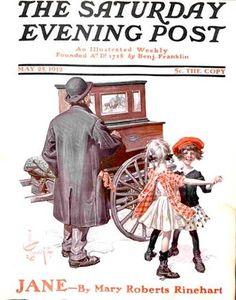Hurdy-Gurdy Man from May 5, 1912 Saturday Evening Post J. C. Leyendecker