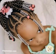 Little Girls Natural Hairstyles, Toddler Braided Hairstyles, Little Girl Braid Hairstyles, Toddler Braids, Kids Curly Hairstyles, Baby Girl Hairstyles, Toddler Braid Styles, Protective Hairstyles, African Kids Hairstyles