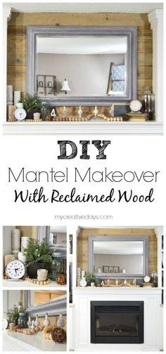 DIY Mantel Makeover