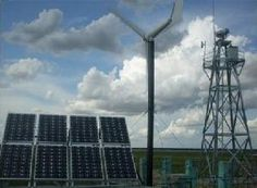 Hybrid Wind Turbines & Solar Panels can provide steady off-grid power.