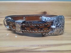 Handmade western leather dog collar. by JDehnkeLeather on Etsy, $40.00